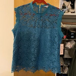 Nanette Lepore NWT xl real sleeveless lace delicat